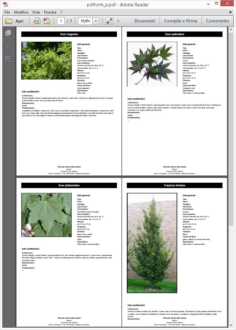 schede botaniche landscape designer